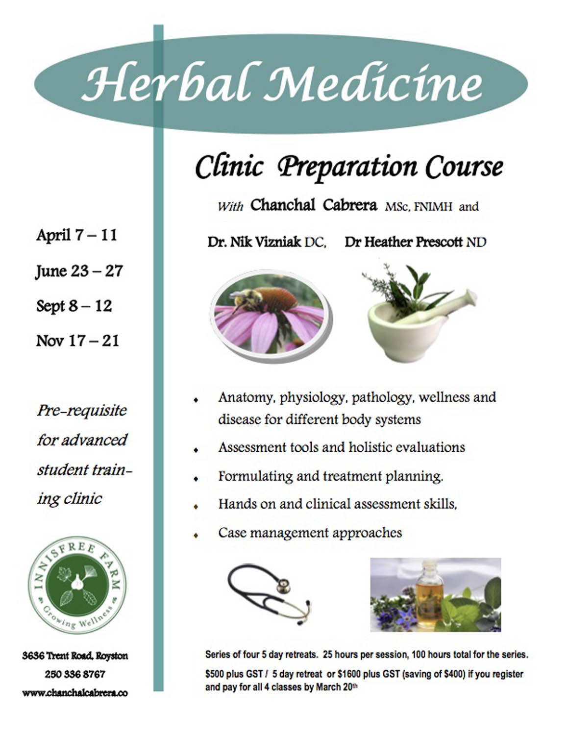 Center for holistic herbal therapy - Clinic Preparation Course For Herbal Medicine