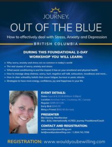 Out of the Blue: How to effectively deal with Stress, Anxiety and Depression @ Innisfree Farm, Courtenay, BC | Courtenay | British Columbia | Canada